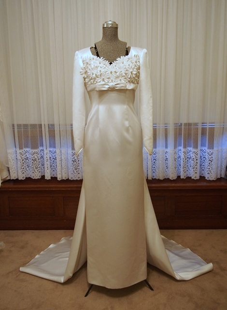 penny wedding dress sleeve sheath vintage wedding dress vintage 6443