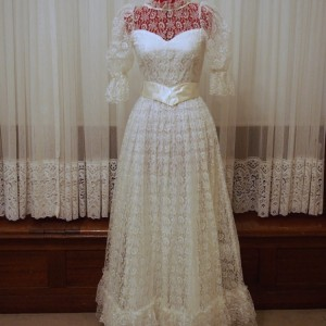 violet vintage wedding dress