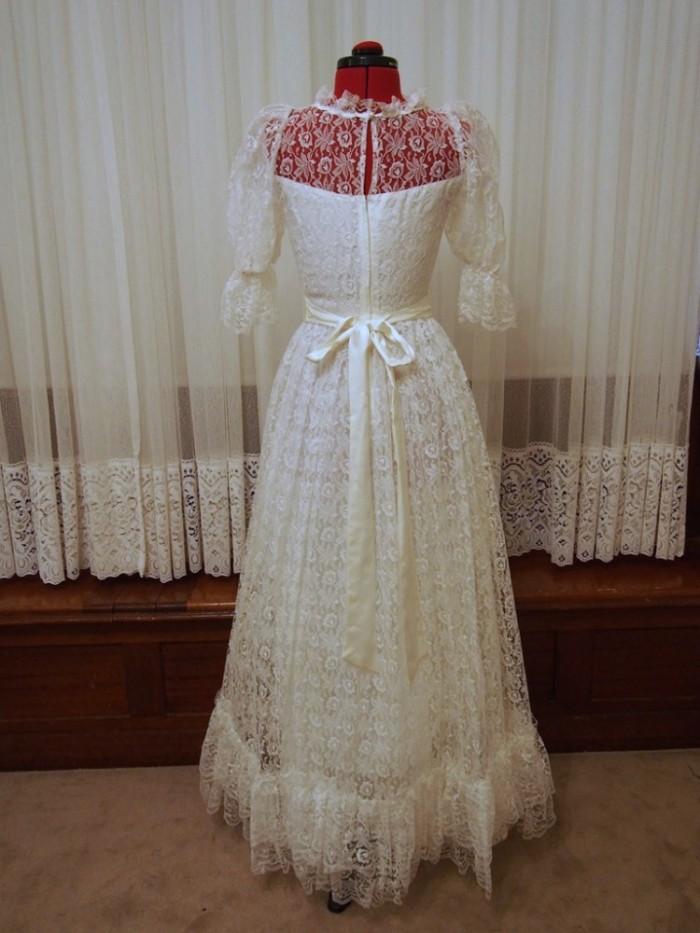 violet vintage wedding dress