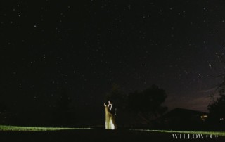 night vintage wedding
