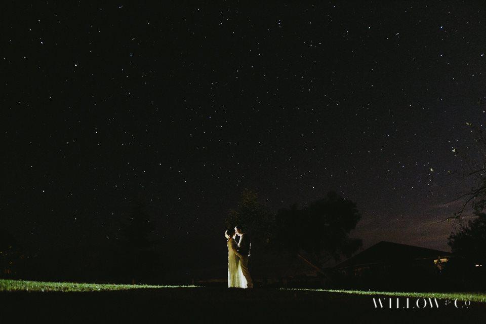 night vintage wedding
