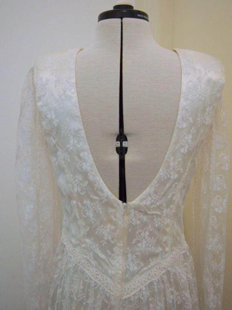 lace tea length vintage wedding dress